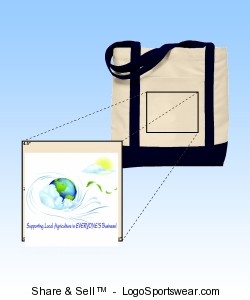Support Local Agriculture Canvas Boat Tote Design Zoom